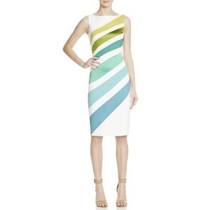 Karen Millen ombre striped pencil dress